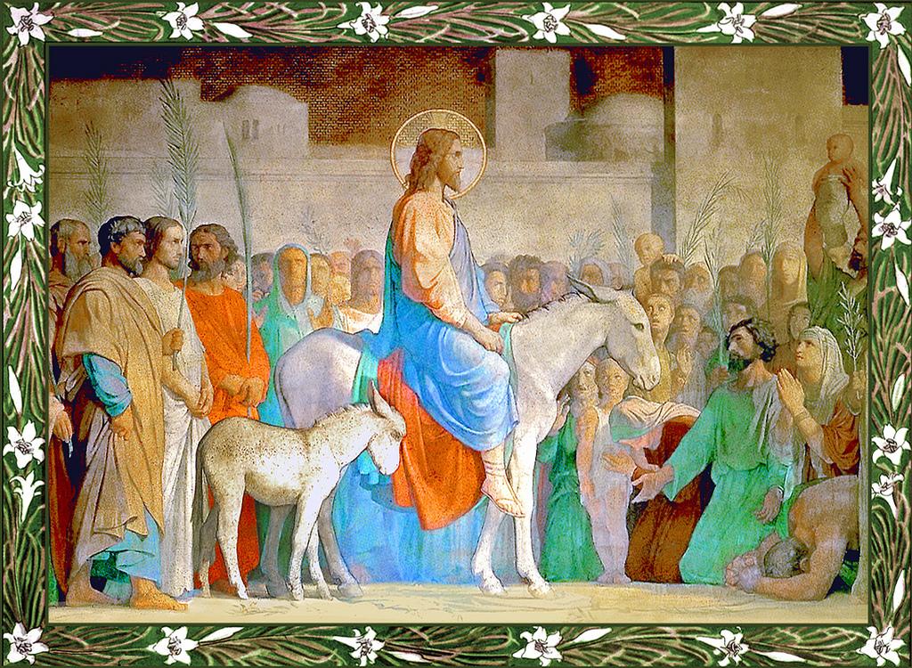 иисус в иерусалиме картинка вернуть