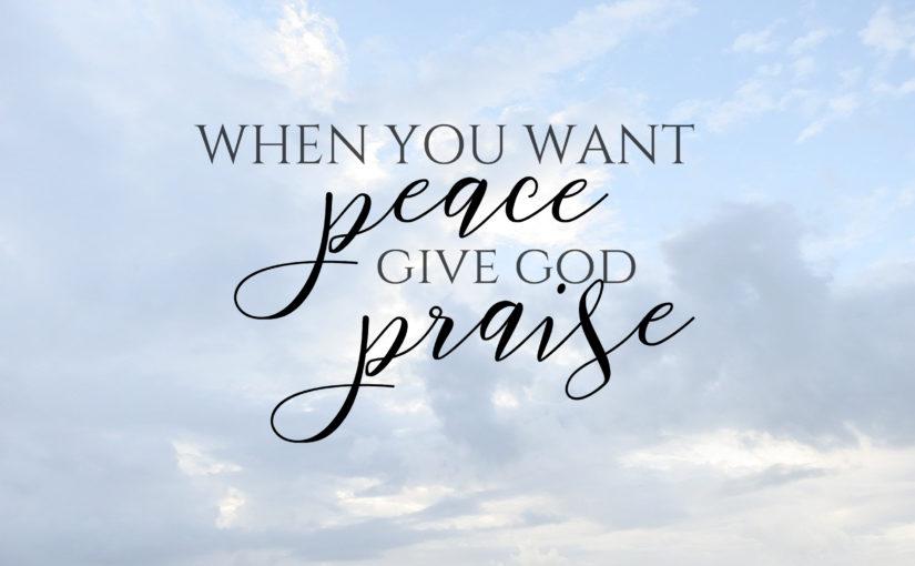 Praise = Peace